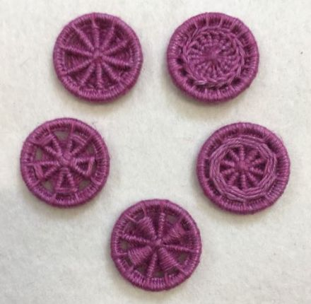 Dorset Button Kit - Multiple Style Dorset Button pack, Rose (Plant fibre)